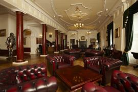 Hotel interior seating area beamish hall hotel newcastle upon tyne