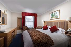Double bedroom at Moores Central Hotel Guernsey
