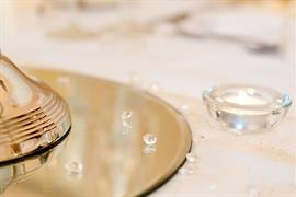 Wedding table arrangement at Oaklands Hotel Grimsby