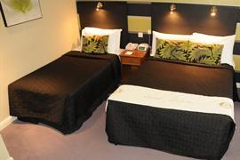 Bedroom interior triple room the parkmore hotel stockton on tees