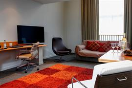 Bedroom interior lounge area atlantic hotel chelmsford