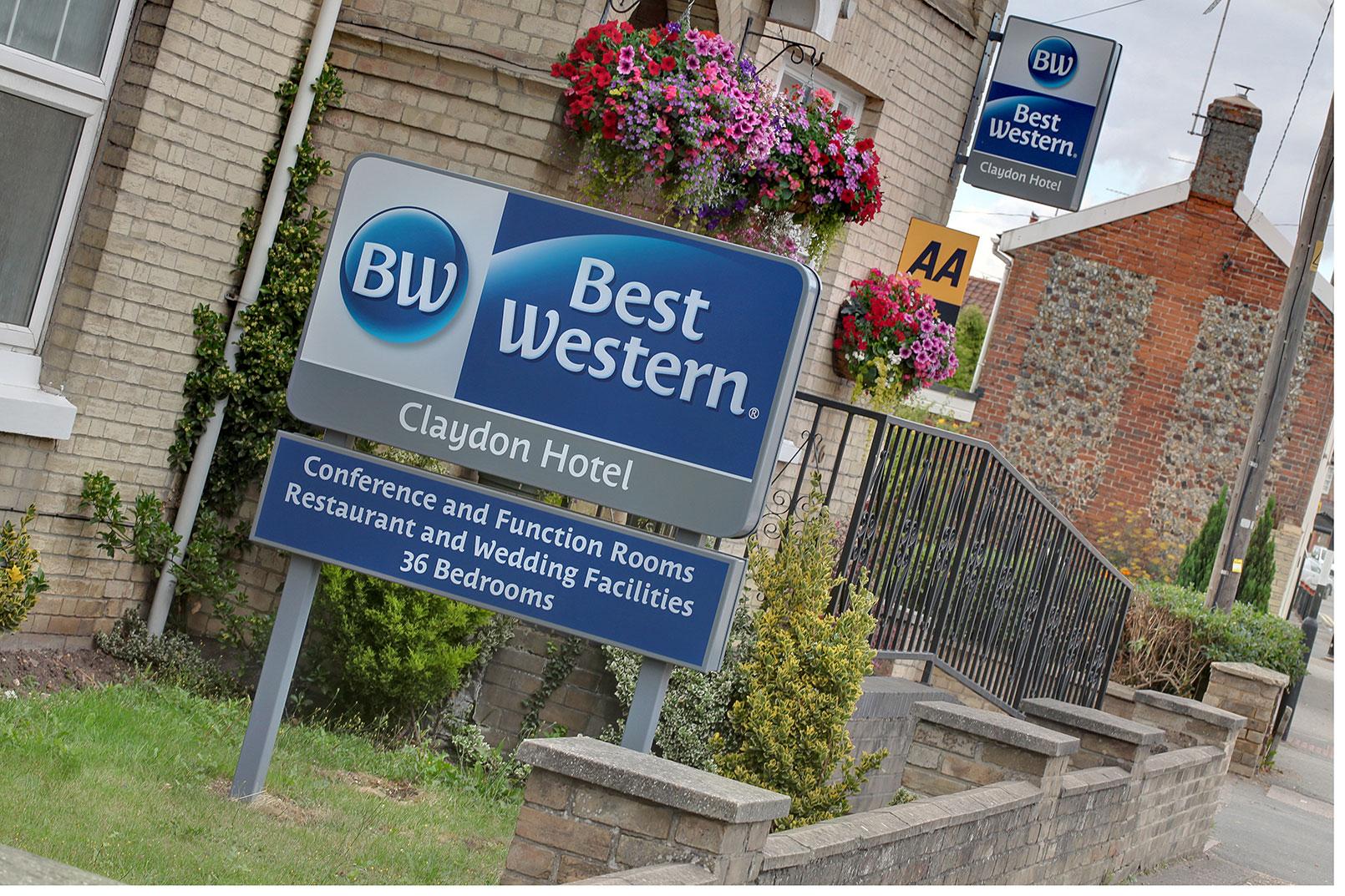 best western claydon hotel