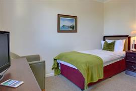 Single bedroom at George Hotel Norwich