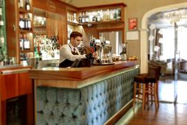 Bar area at Oaklands Hall Hotel Grimsby