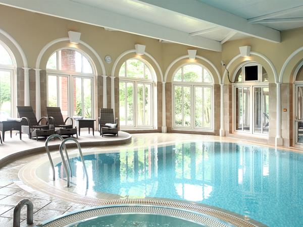 Indoor pool at Moor Hall Hotel Sutton Coldfield