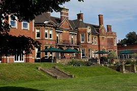 Moor Hall Hotel and grounds