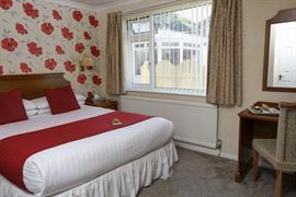 Double bedroom at Restormel Lodge Hotel Lostwithiel