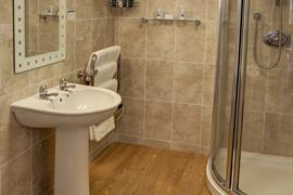 Bathroom at Restormel Lodge Hotel Lostwithiel