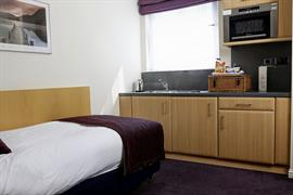 Single studio room summerhill hotel aberdeen
