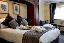 Double bedroom at Moor Hall Hotel Sutton Coldfield